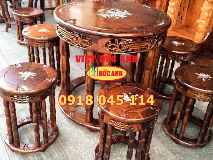 Bàn ghế gỗ 2